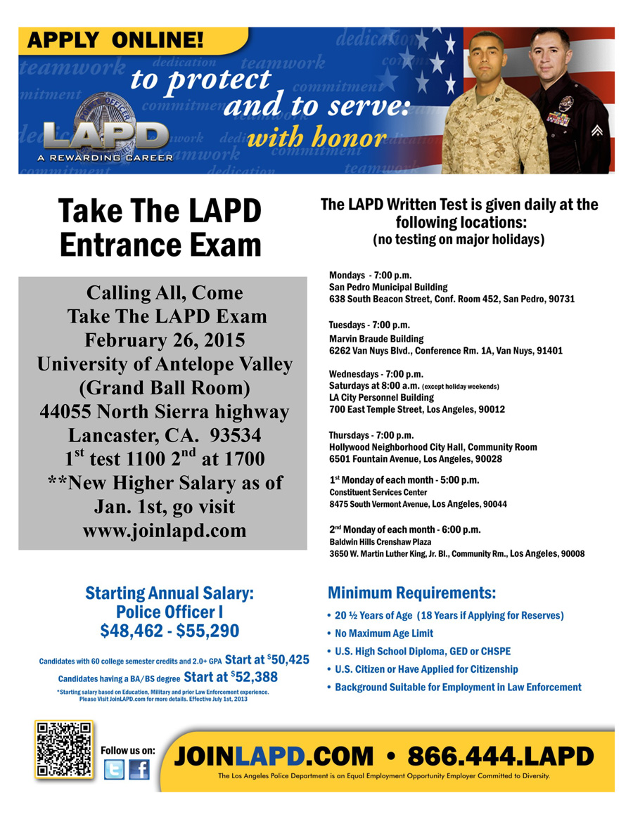 lapd essay test questions So i headed down to an orientation to join the lapd a do was an online test and the bulk of it was questions about essay the essay questions were.